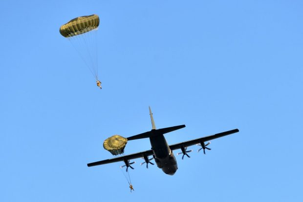 Airborne sappers from 23 Parachute Engineer Regiment have parachuted into an exercise designed to test their readiness to serve as part of the Air Assault Task Force, the British Army's airborne rapid reaction force