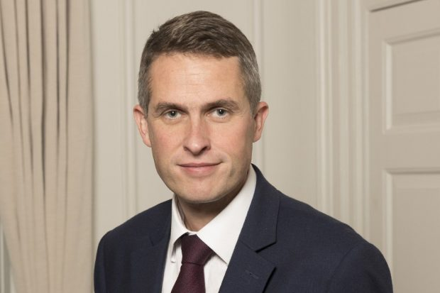Defence Secretary Gavin Williamson. Crown Copyright.