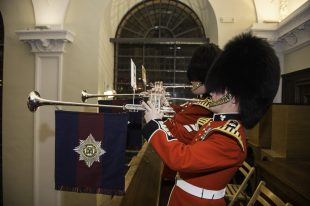 Trumpeters from the Band of the Irish Guards