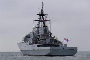 HMS Mersey at sea