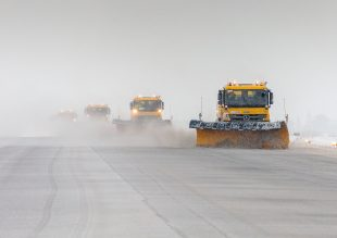 snow ploughs at RAF Brize Norton in Oxfordshire