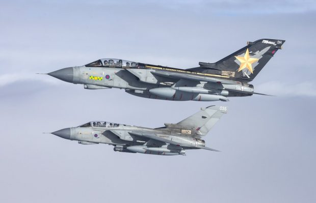 The RAF's Tornados will retire at the end of March and have conducted flypasts across the UK
