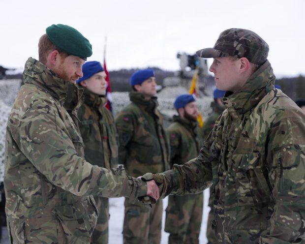 His Royal Highness, The Duke of Sussex, visiting Commando Helicopter Force in Norway yesterday.