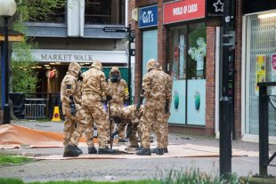 Military personnel from the Army and the Royal Air Force working in support of DEFRA and the civil authorities with the recovery operation in Salisbury, Wiltshire in the aftermath of the nerve agent attack in March 2018.