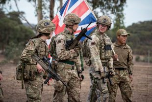 British soldiers on exercise in Australia