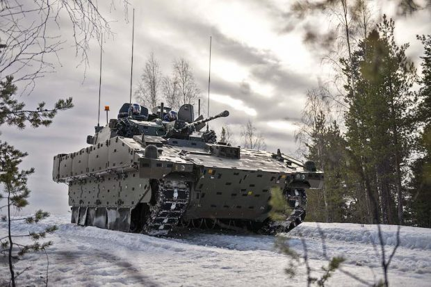 AJAX Scout vehicle In-Country cold weather system trialling at Tame Ranges in Sweden, between Feb-Mar 2019.
