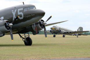 Dakota aircraft on an airfield