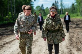 HRH Princess Anne with British Troops in Estonia
