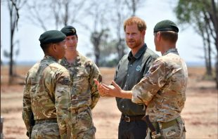 The Duke of Sussex meeting British Army personnel deployed to Malawi to train local counter-poaching rangers.