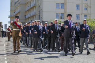 Veterans parade on Armed Forces Day