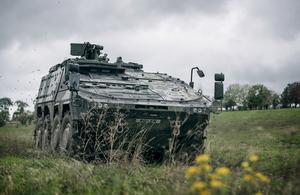 Boxer (armoured fighting vehicle) demonstration on Salisbury Plain